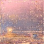 ©Gay Summer Rick_Pink Sun Setting II_Oil on Canvas_4x4in_web