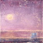 ©Gay Summer Rick_Pink Sun Setting I_Oil on Canvas_4x4in_web