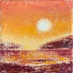 ©Gay Summer Rick_Yellow Sun Setting I_Oil on Canvas_4x4in_web